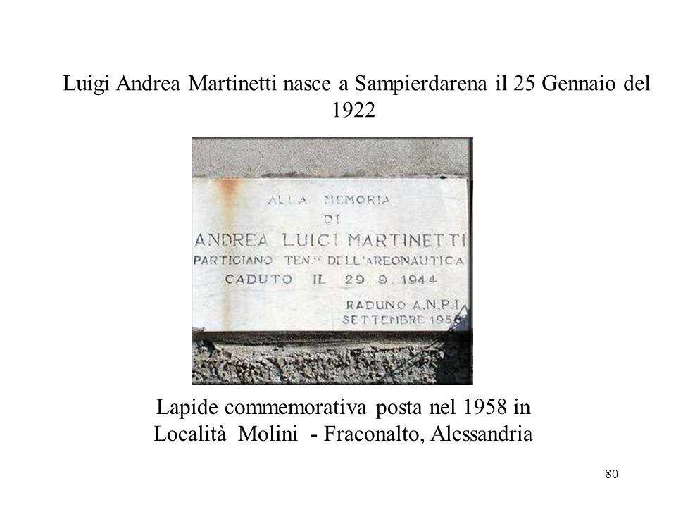 Luigi Andrea Martinetti nasce a Sampierdarena il 25 Gennaio del 1922