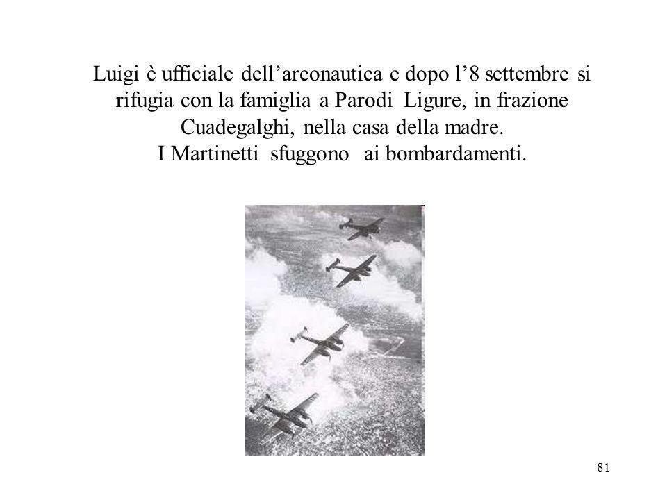 I Martinetti sfuggono ai bombardamenti.