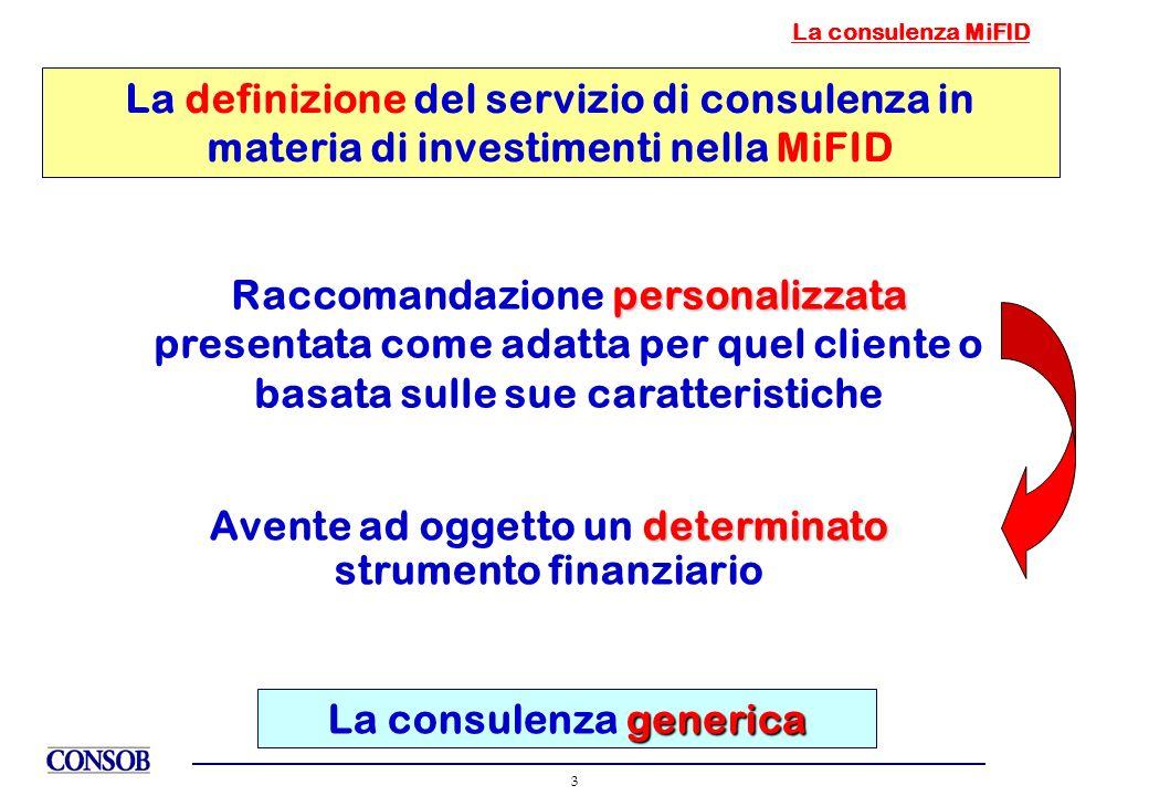 Avente ad oggetto un determinato strumento finanziario