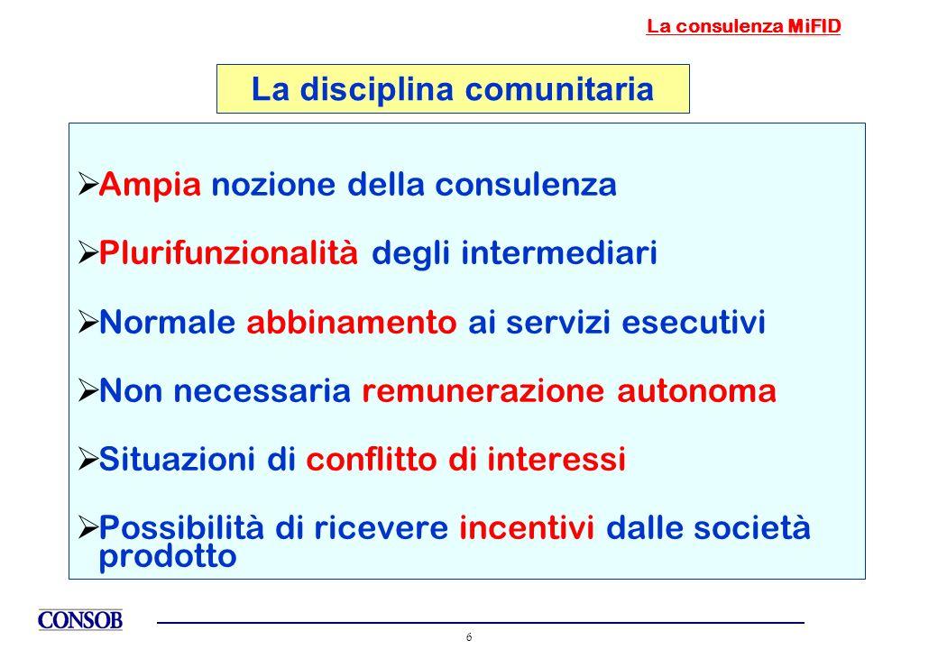 La disciplina comunitaria