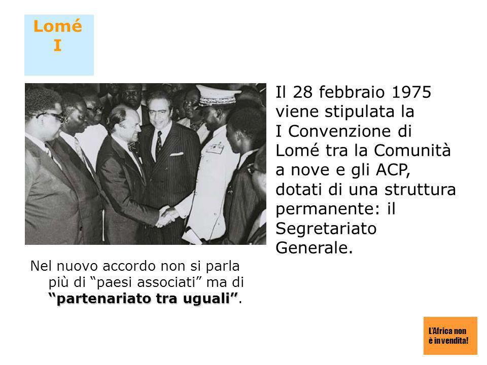Il 28 febbraio 1975 viene stipulata la