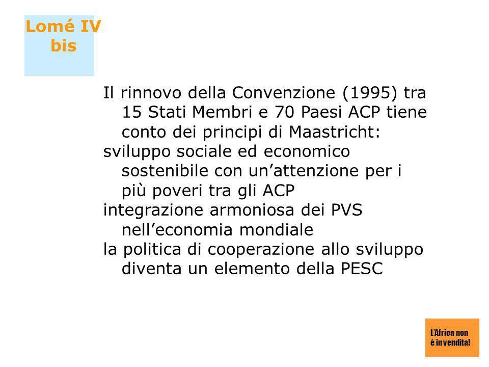 integrazione armoniosa dei PVS nell'economia mondiale
