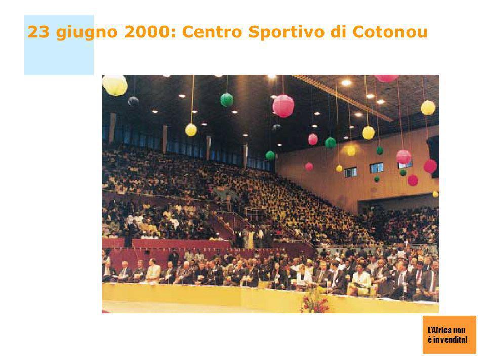 23 giugno 2000: Centro Sportivo di Cotonou
