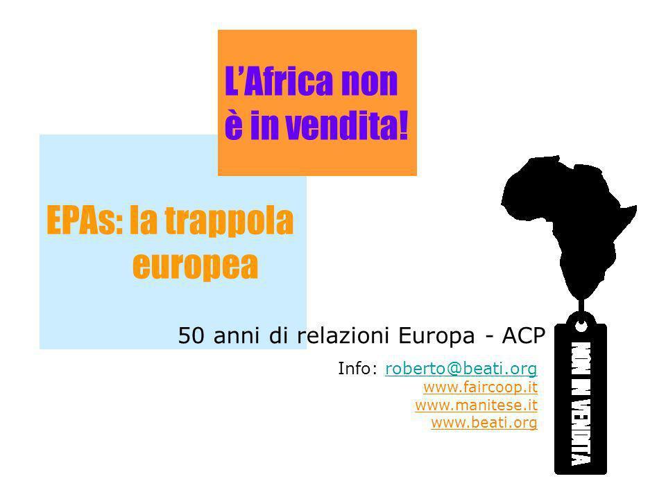 L'Africa non è in vendita!
