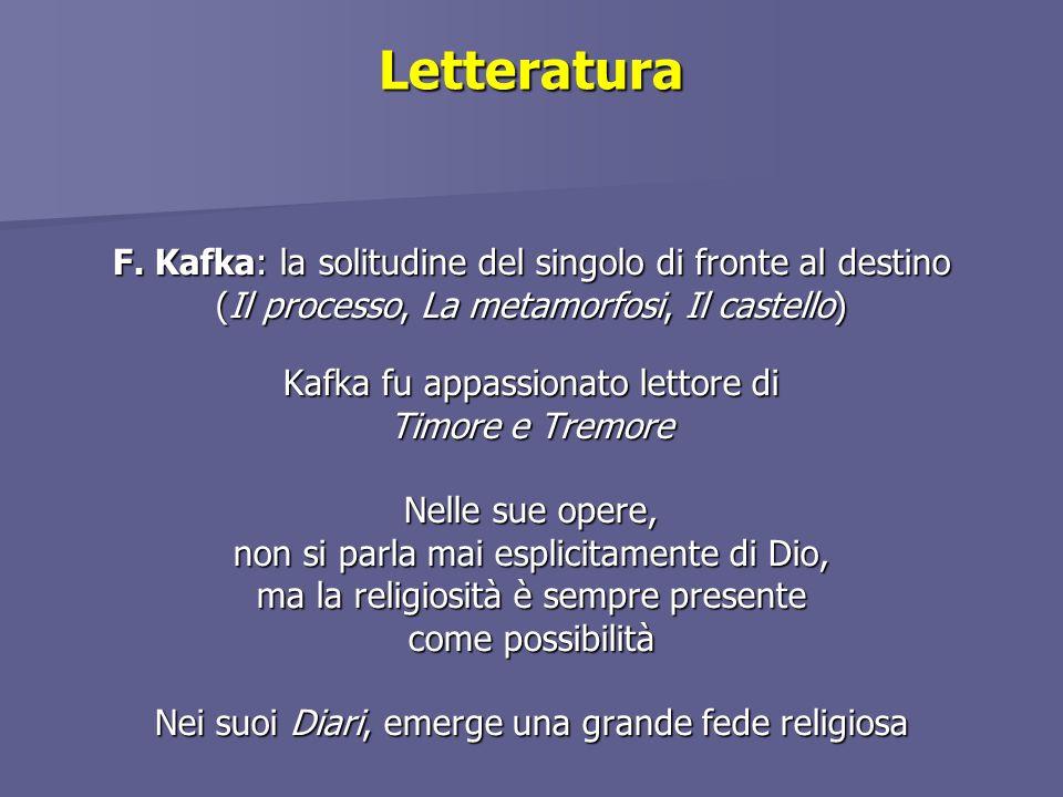 Letteratura F. Kafka: la solitudine del singolo di fronte al destino