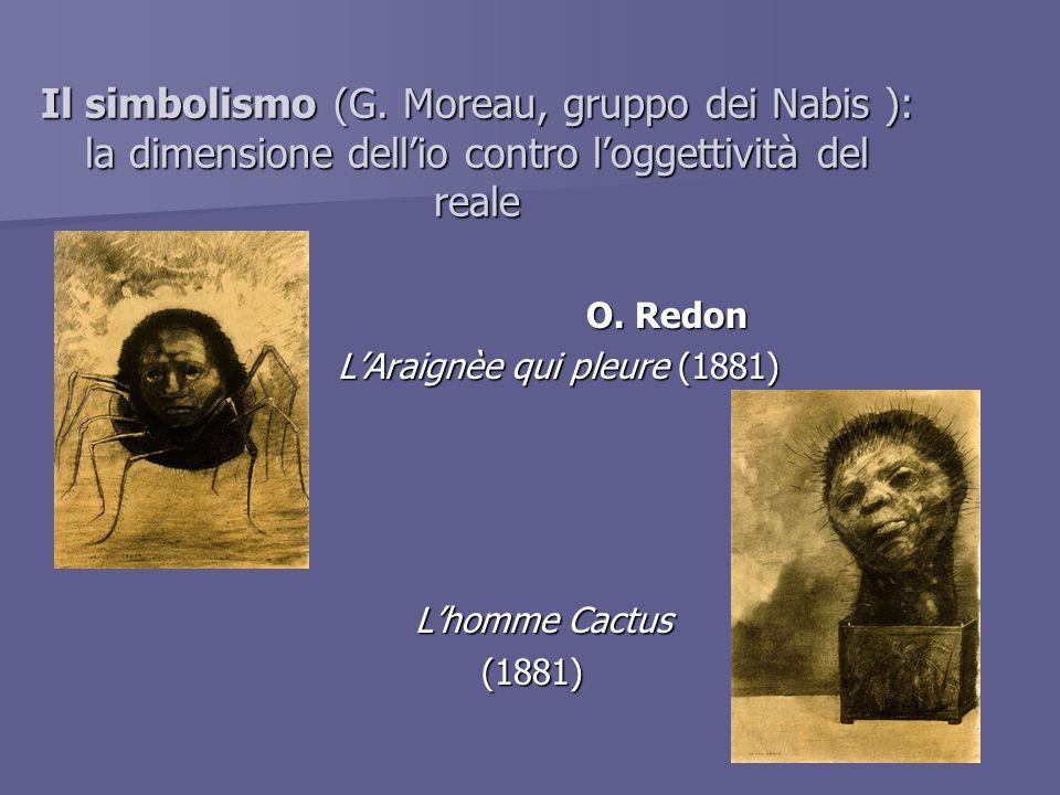 Il simbolismo (G. Moreau, gruppo dei Nabis ): la dimensione dell'io contro l'oggettività del reale