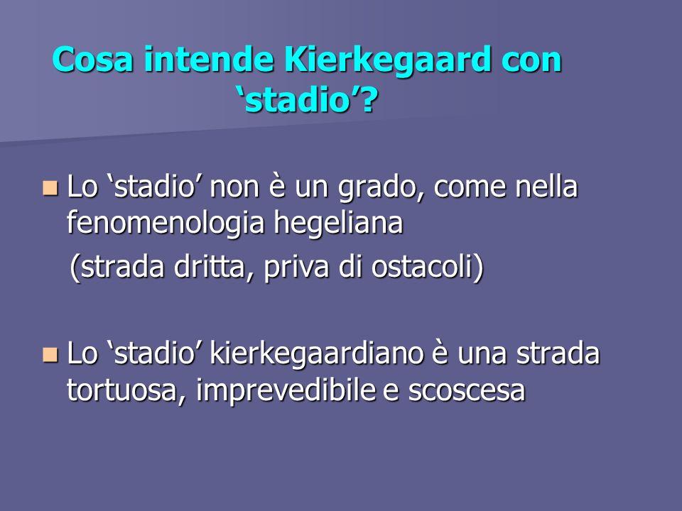 Cosa intende Kierkegaard con 'stadio'