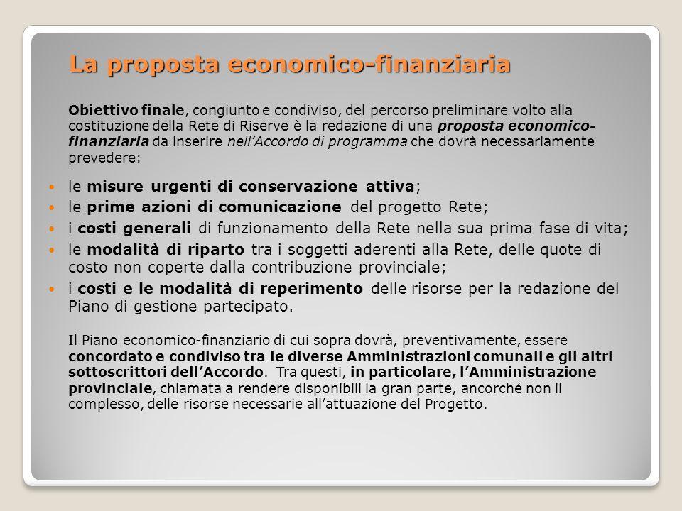 La proposta economico-finanziaria