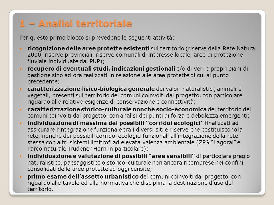 1 – Analisi territoriale