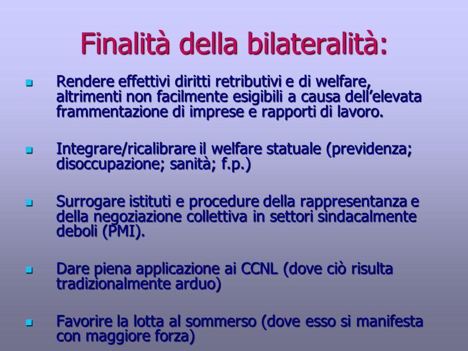 Finalità della bilateralità: