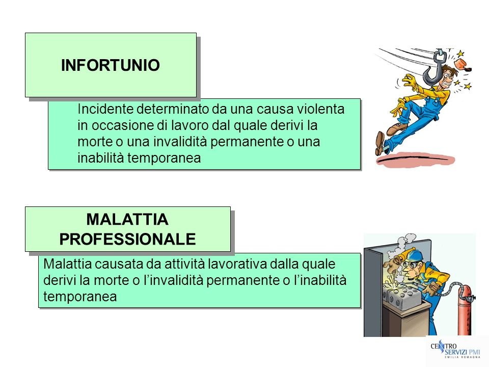 INFORTUNIO MALATTIA PROFESSIONALE