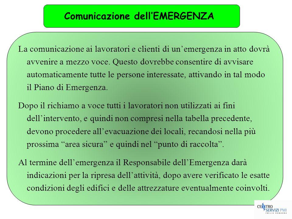 Comunicazione dell'EMERGENZA