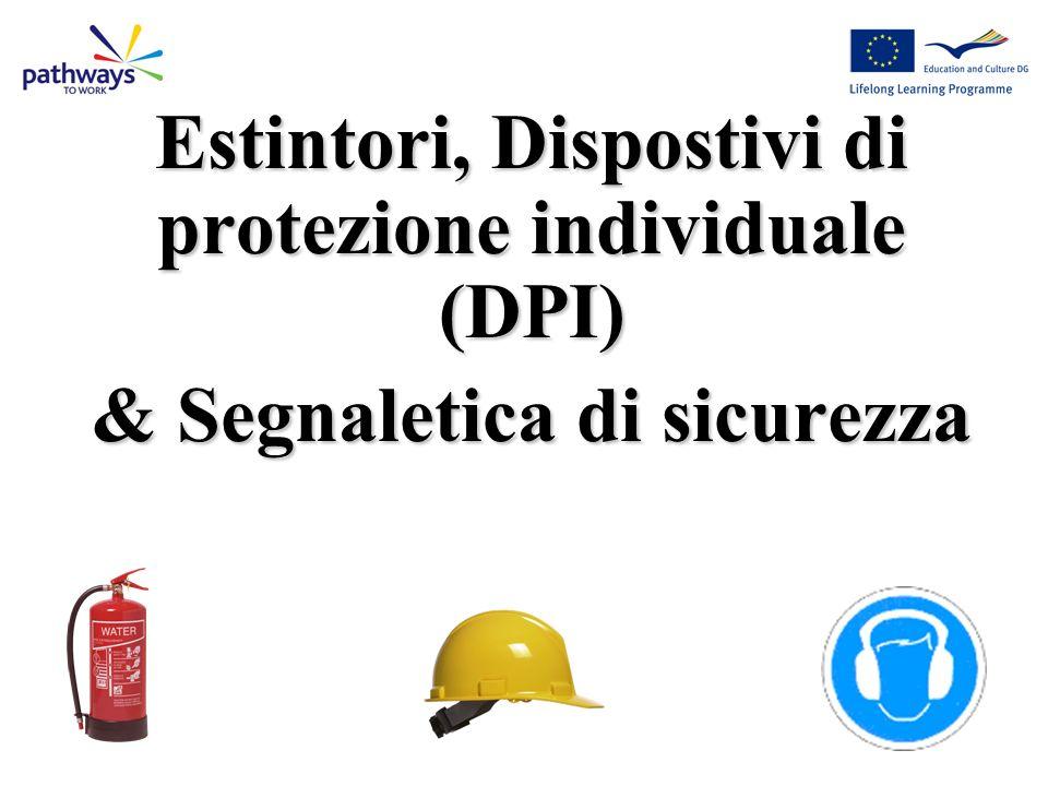 Estintori, Dispostivi di protezione individuale (DPI)