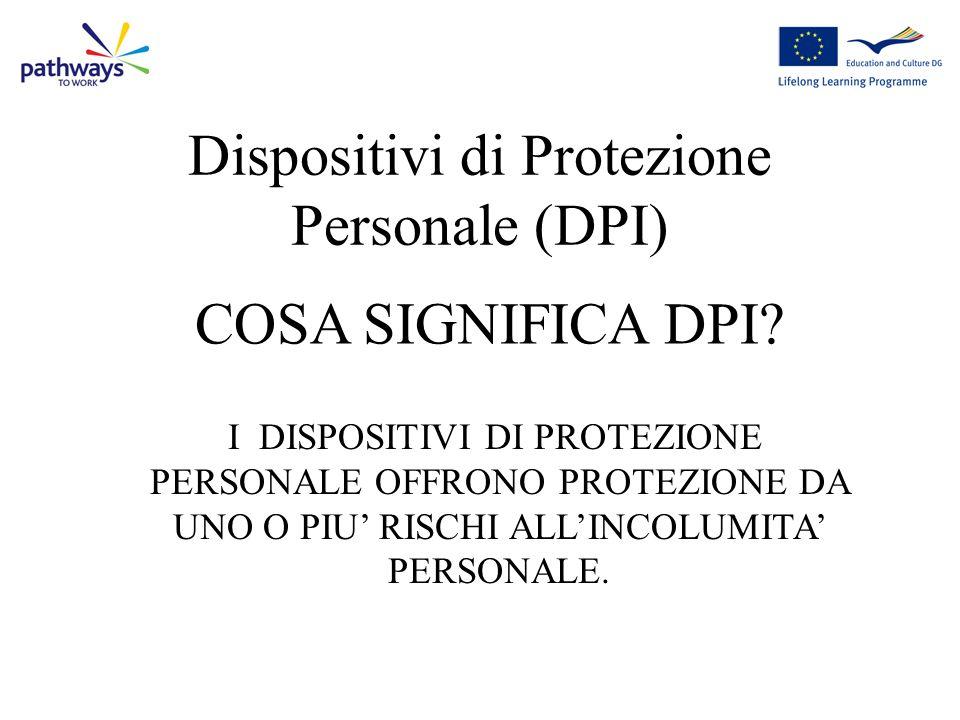 Dispositivi di Protezione Personale (DPI)