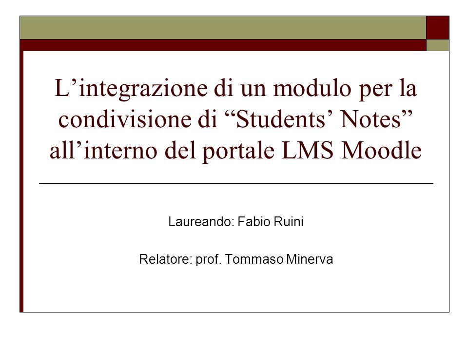 Laureando: Fabio Ruini Relatore: prof. Tommaso Minerva