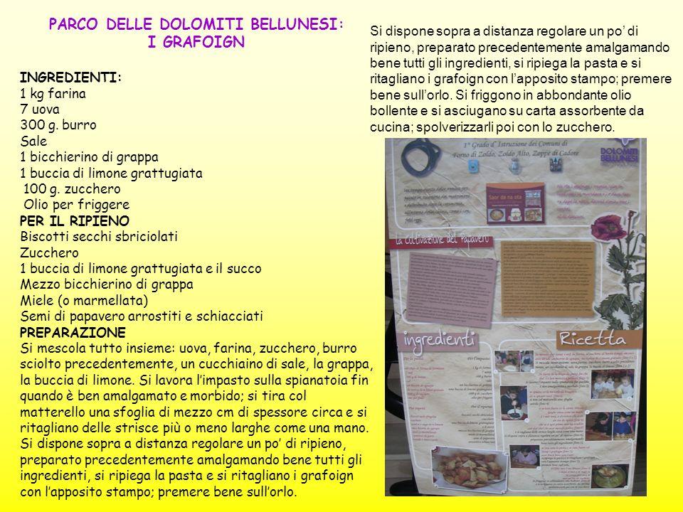 PARCO DELLE DOLOMITI BELLUNESI: