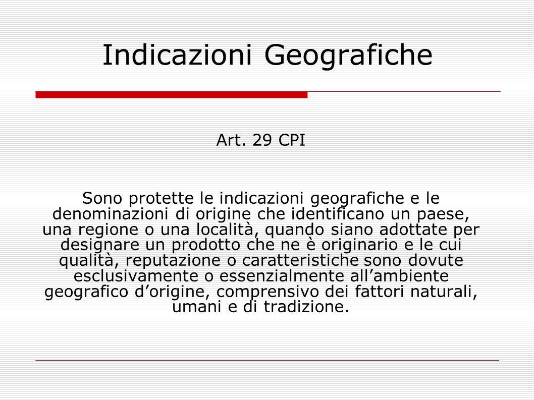Indicazioni Geografiche