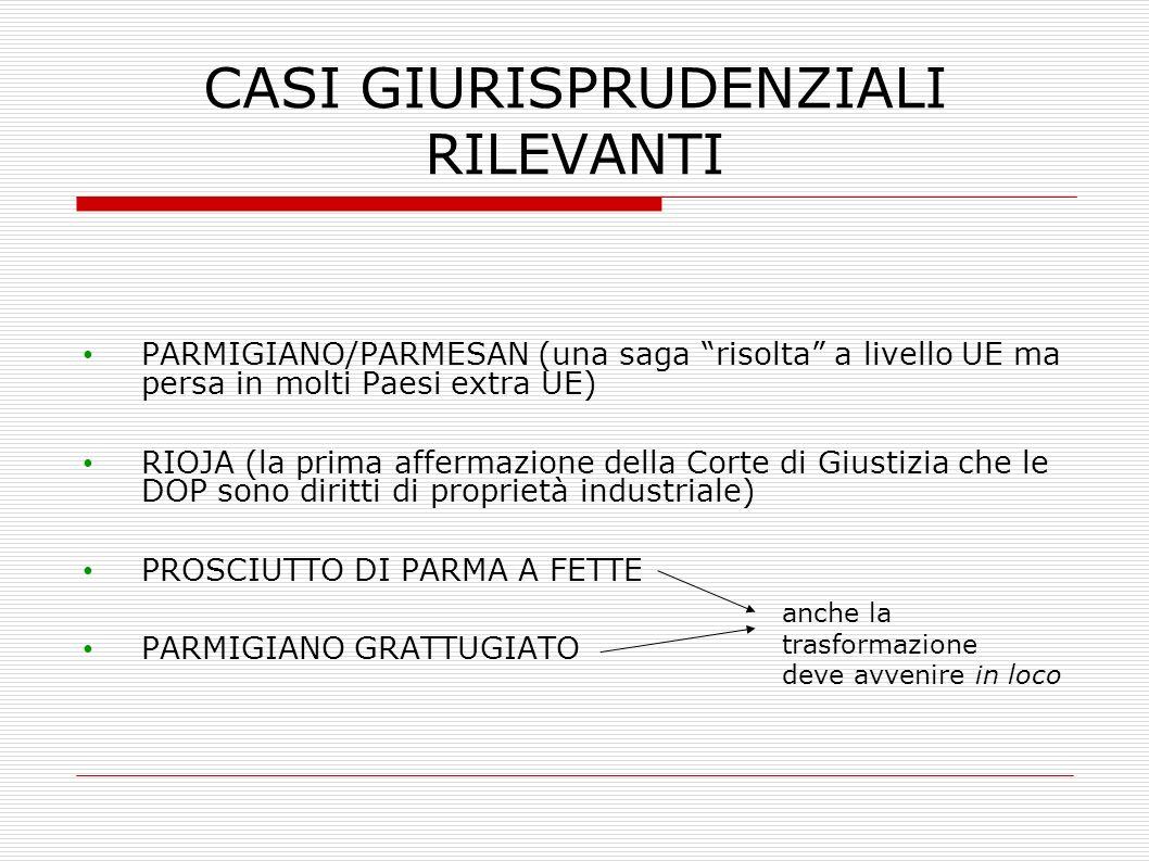 CASI GIURISPRUDENZIALI RILEVANTI