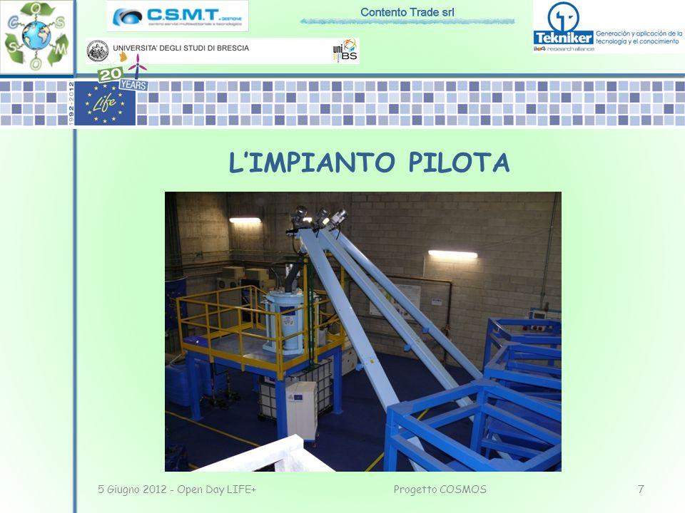 L'IMPIANTO PILOTA 5 Giugno 2012 - Open Day LIFE+ Progetto COSMOS
