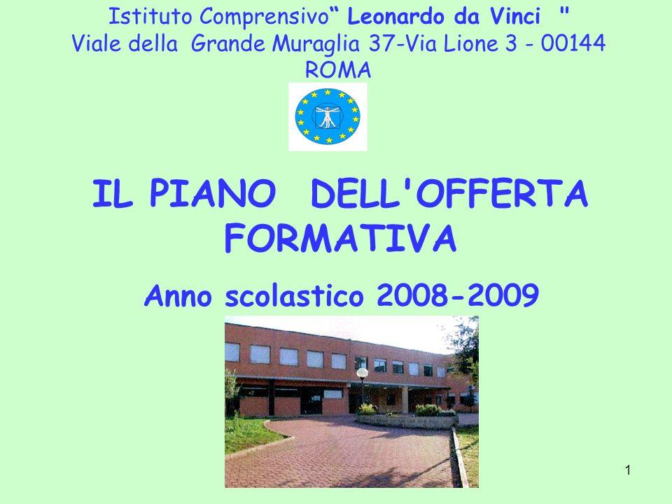 IL PIANO DELL OFFERTA FORMATIVA Anno scolastico 2008-2009