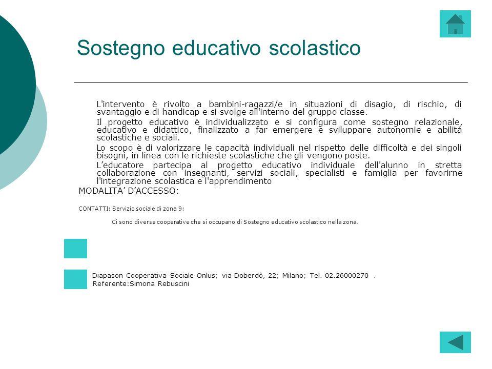 Sostegno educativo scolastico