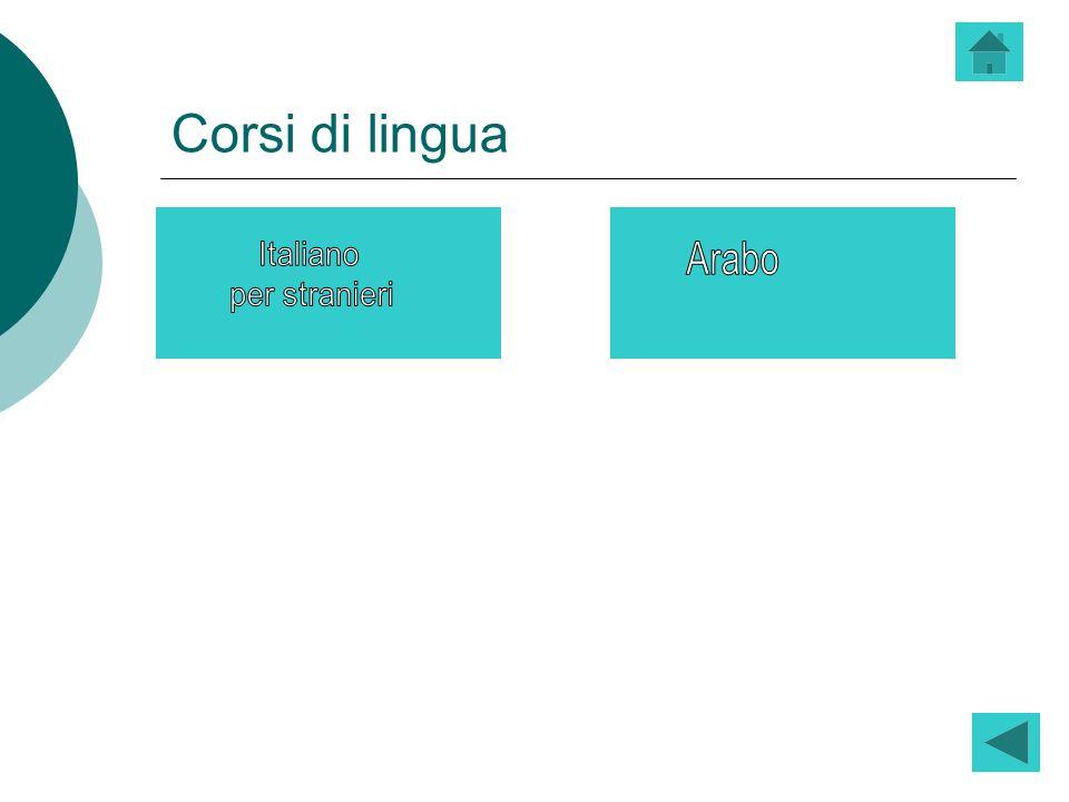 Corsi di lingua Italiano per stranieri Arabo