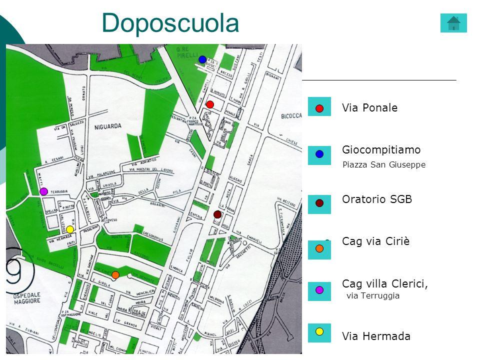 Doposcuola Via Ponale Giocompitiamo Piazza San Giuseppe Oratorio SGB