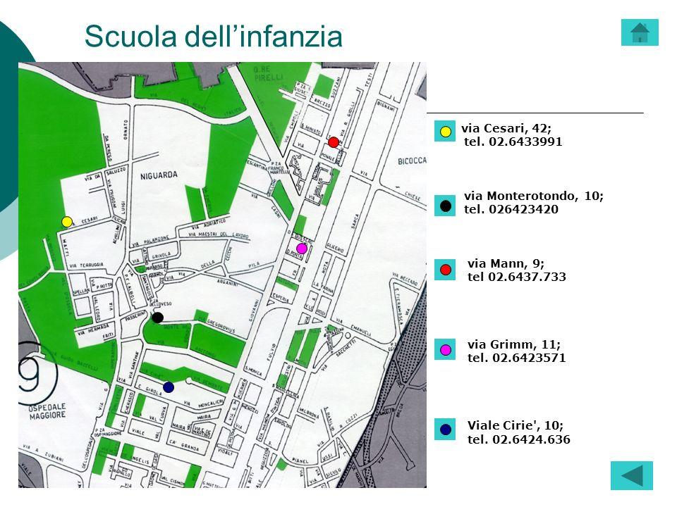Scuola dell'infanzia via Cesari, 42; tel. 02.6433991