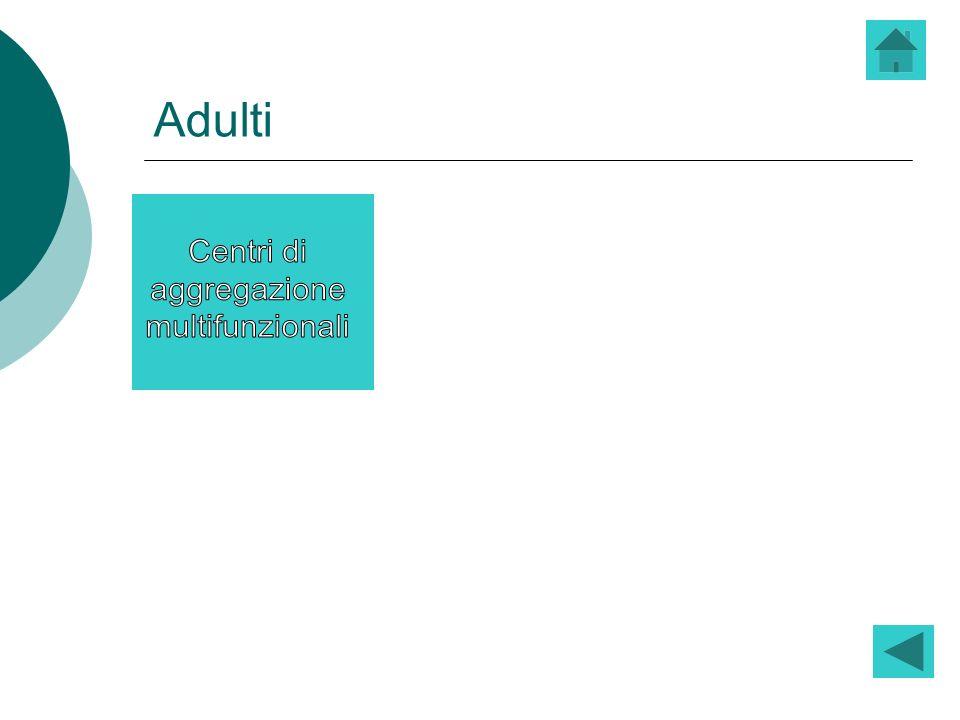 Adulti Centri di aggregazione multifunzionali