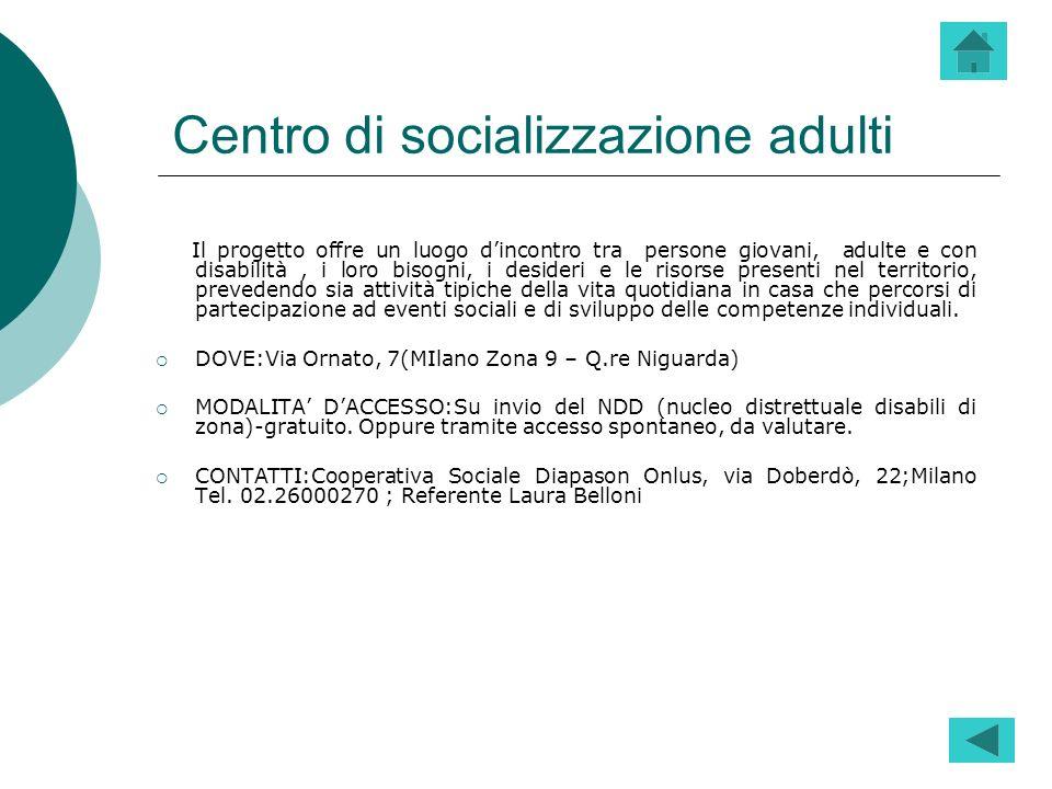 Centro di socializzazione adulti