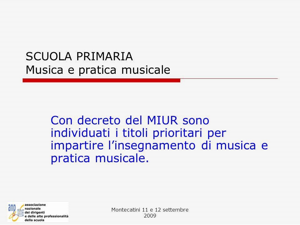 SCUOLA PRIMARIA Musica e pratica musicale