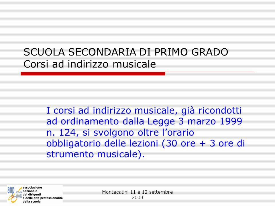 SCUOLA SECONDARIA DI PRIMO GRADO Corsi ad indirizzo musicale
