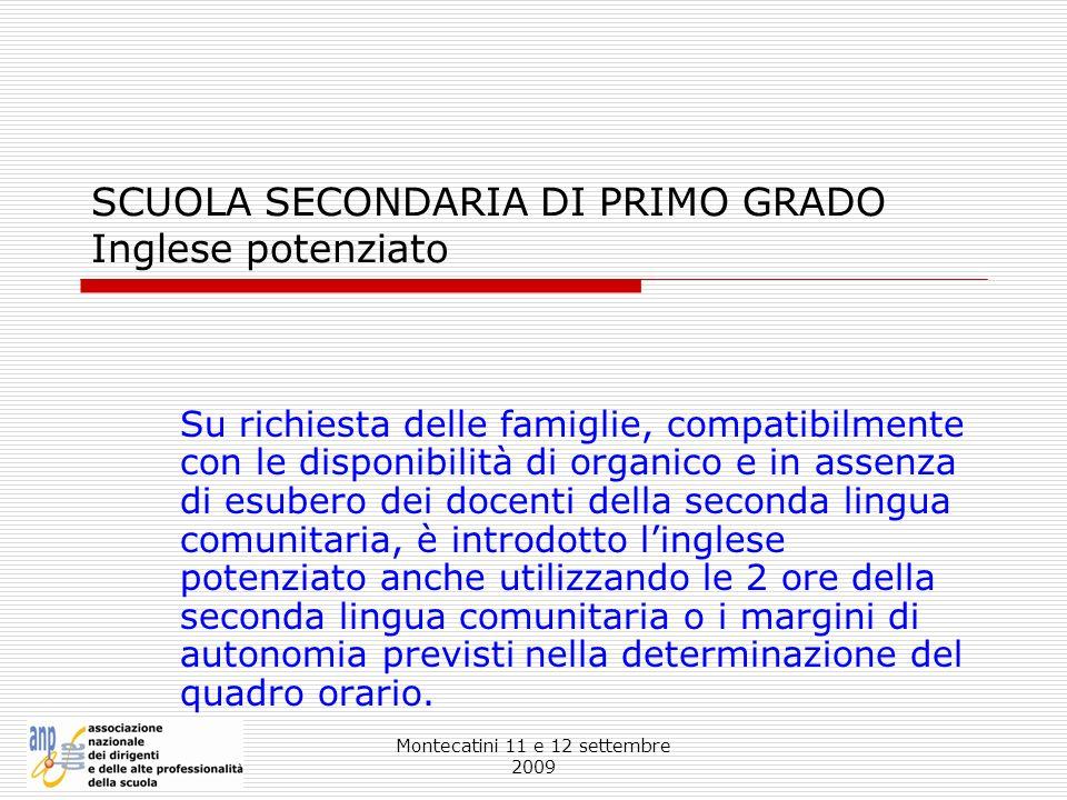 SCUOLA SECONDARIA DI PRIMO GRADO Inglese potenziato