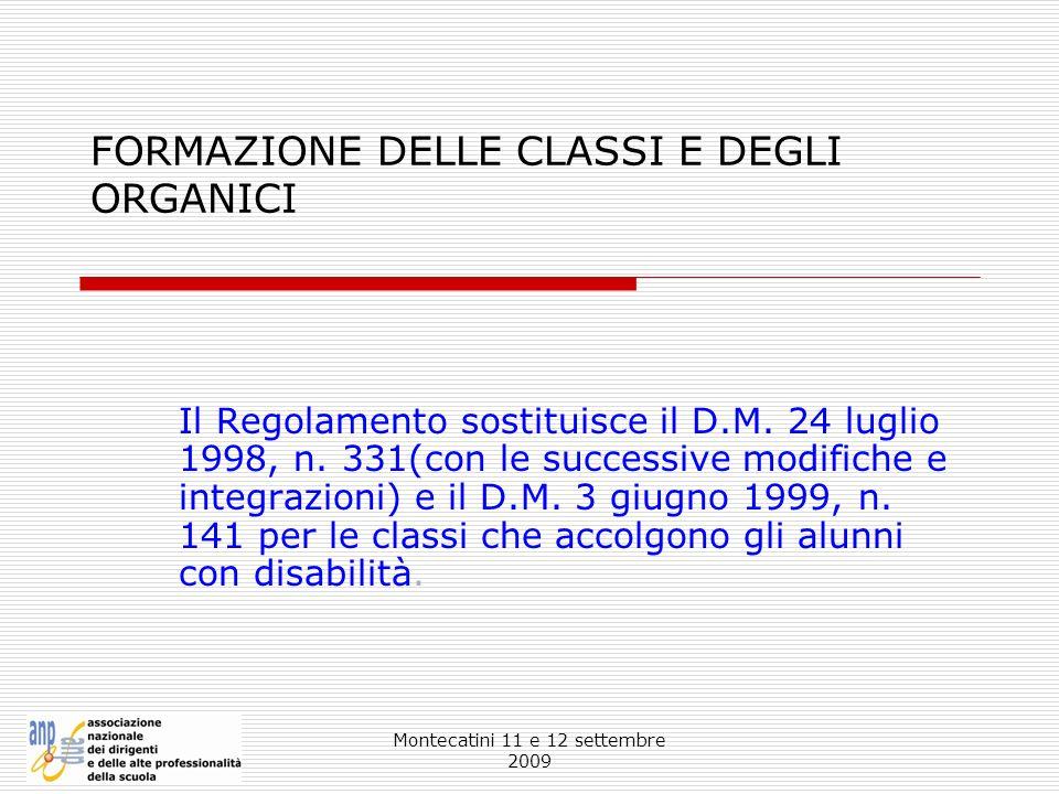 FORMAZIONE DELLE CLASSI E DEGLI ORGANICI