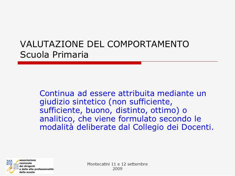 VALUTAZIONE DEL COMPORTAMENTO Scuola Primaria