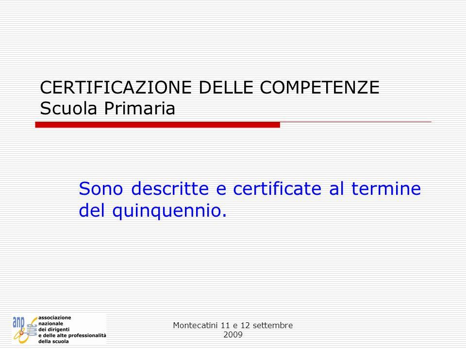 CERTIFICAZIONE DELLE COMPETENZE Scuola Primaria