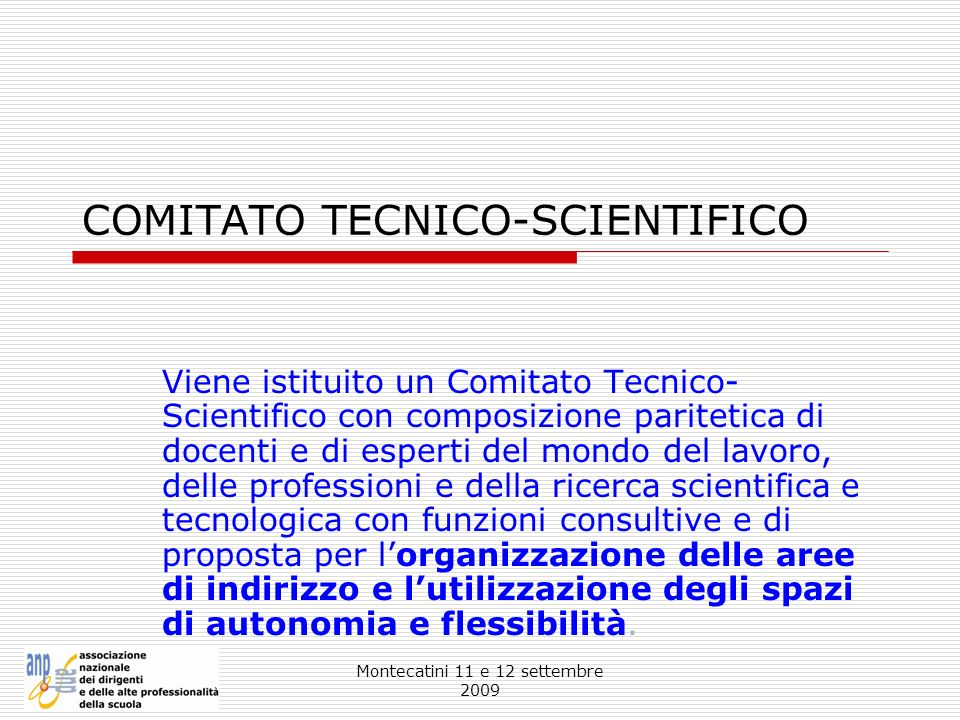 COMITATO TECNICO-SCIENTIFICO