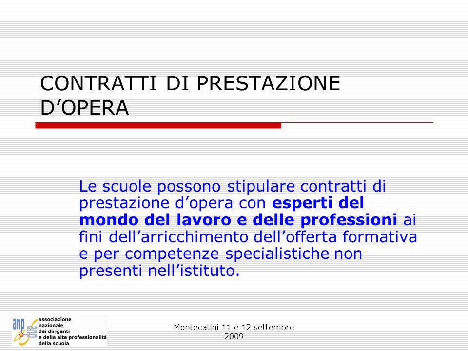 CONTRATTI DI PRESTAZIONE D'OPERA