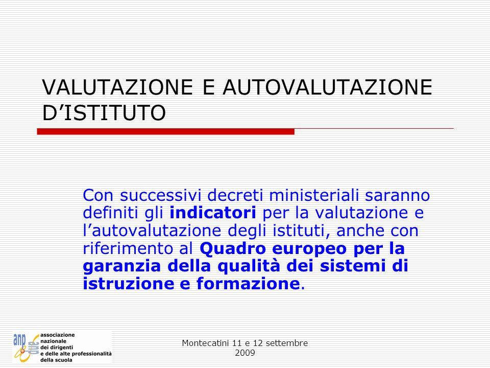 VALUTAZIONE E AUTOVALUTAZIONE D'ISTITUTO