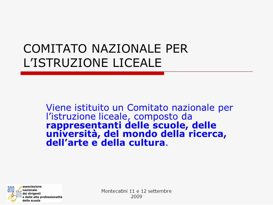 COMITATO NAZIONALE PER L'ISTRUZIONE LICEALE