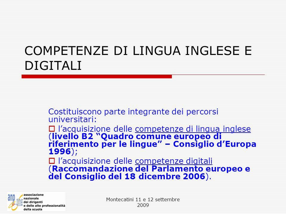 COMPETENZE DI LINGUA INGLESE E DIGITALI