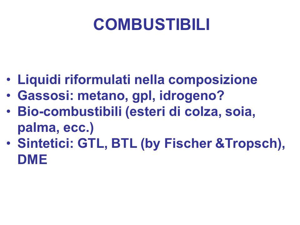COMBUSTIBILI Liquidi riformulati nella composizione