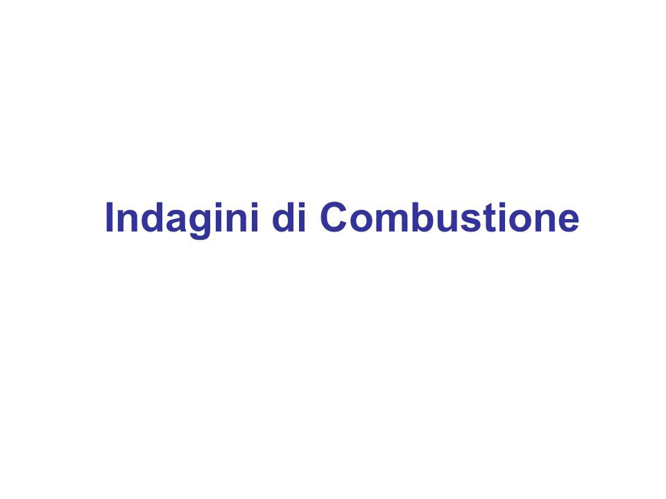 Combustion Visualization Indagini di Combustione