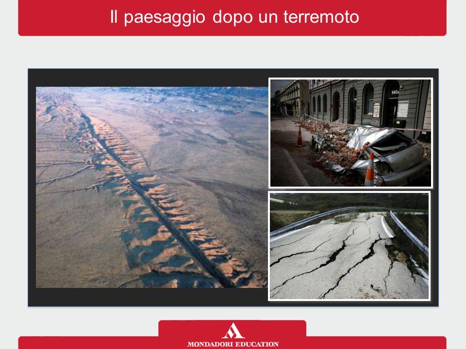 Il paesaggio dopo un terremoto