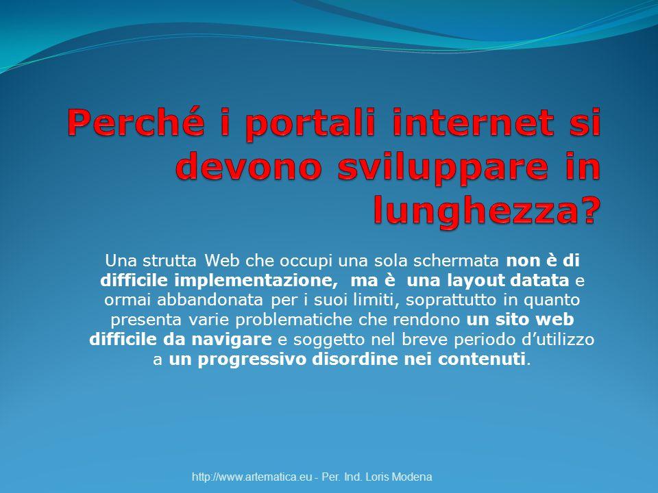 Perché i portali internet si devono sviluppare in lunghezza