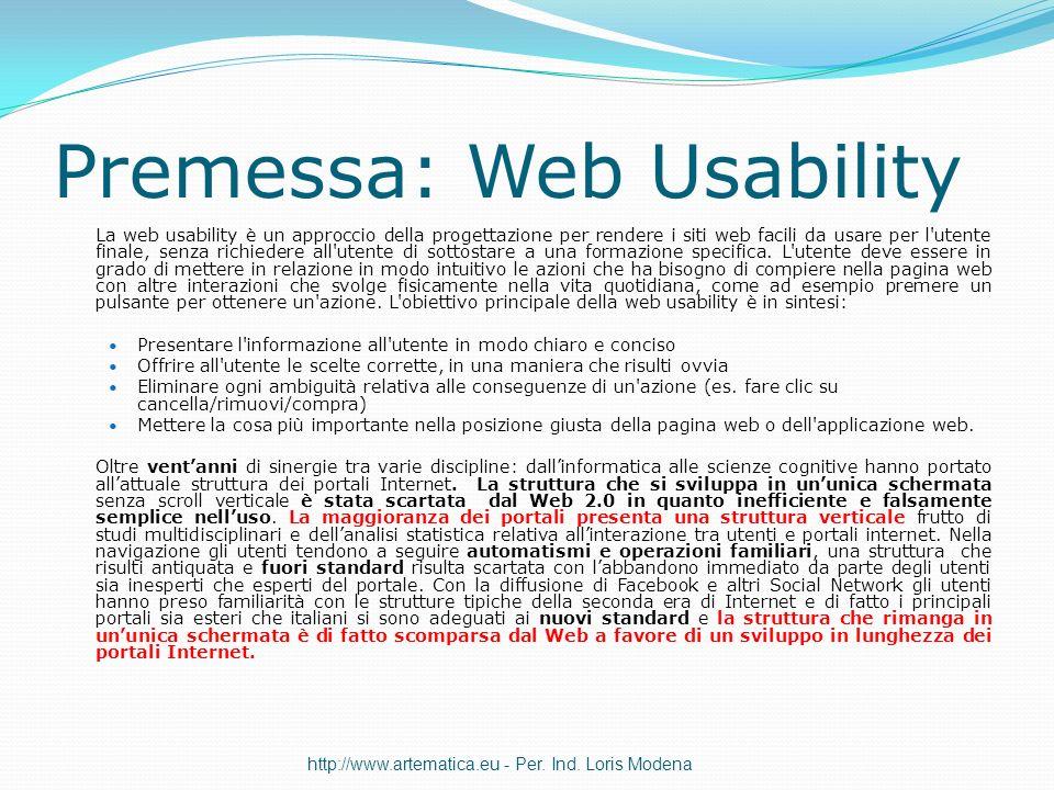 Premessa: Web Usability