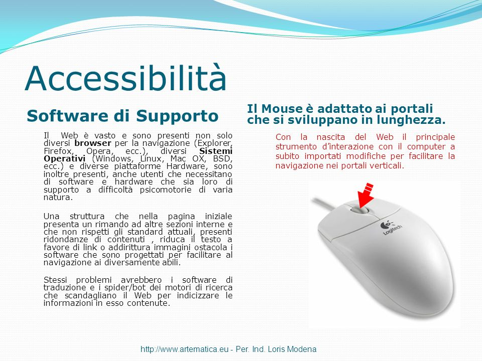 Accessibilità Software di Supporto