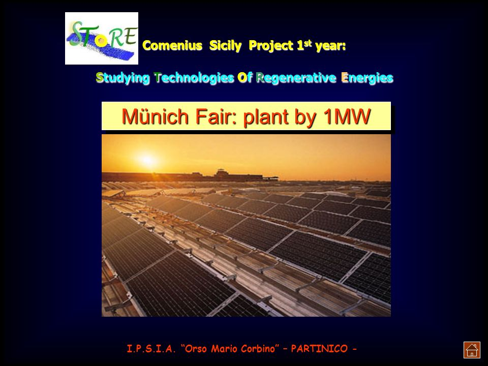 Münich Fair: plant by 1MW