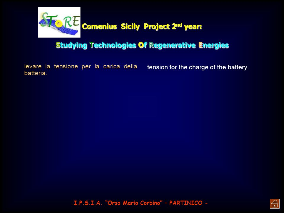 Comenius Sicily Project 2nd year: Studying Technologies Of Regenerative Energies