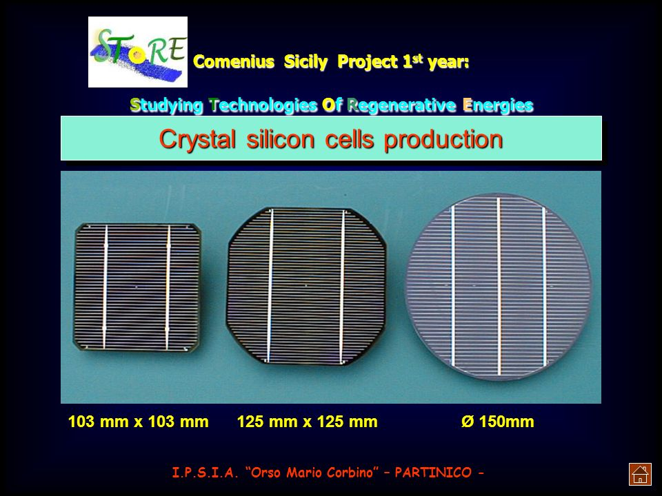 Crystal silicon cells production